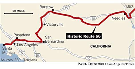 california map route 66 the guzzler route 66 immortalized but mortal