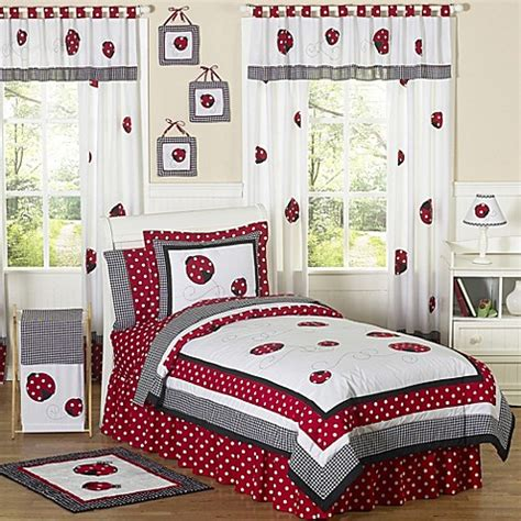 ladybug bedding sweet jojo designs polka dot ladybug bedding collection