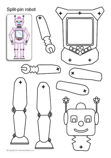 printable robot templates split pin robot characters sb8960 sparklebox