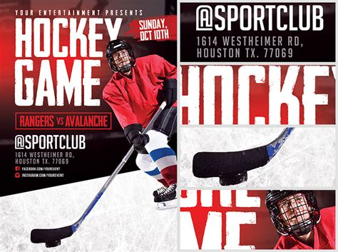 hockey flyer template hockey flyer template flyerheroes