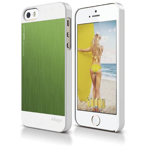 outfit matrix case  iphone sse white green