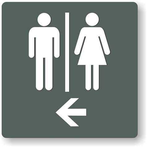 restroom directional restroom sign to meet ada