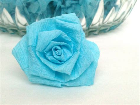 Roses With Paper - barefoot sewing crafting crepe paper roses