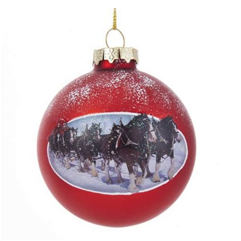 budweiser clydesdale 3 1 2 inch ball ornament kurt s