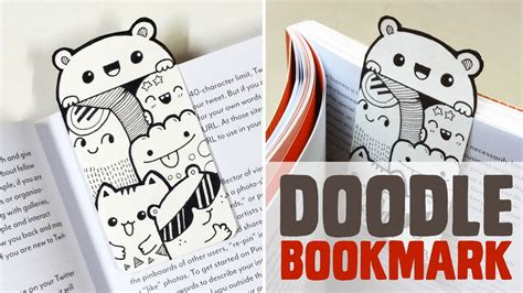 mini doodle bookmark diy mini doodle bookmark www piccandle