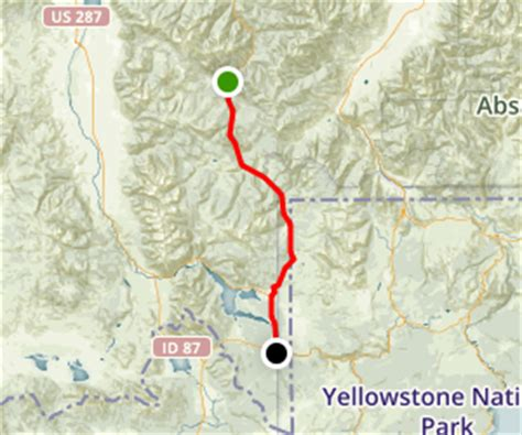 seattle to west yellowstone map bozeman mt to west yellowstone mt the west entrance