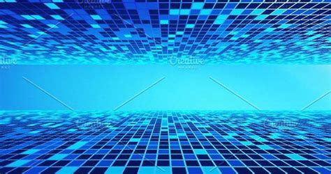 virtual cyberspace reality room  blue background