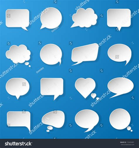 Modern Paper - modern paper speech bubbles set on stock vector 172455491