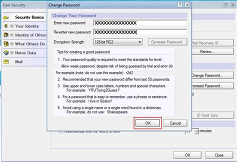 learn how to change password in lotus notes 9 by reset