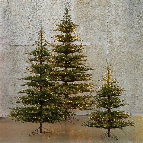 pre lit led faux noble fir terrain