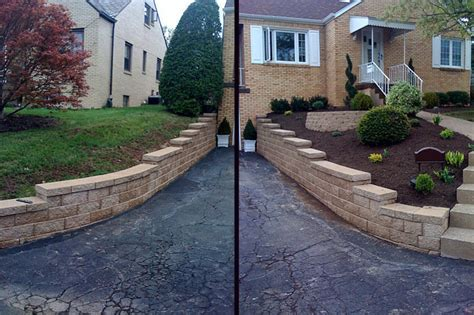 hill driveway design retaining wall in hill google search outside