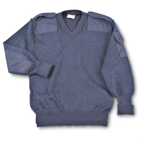 Sweater Blue Army used air commando sweater air blue