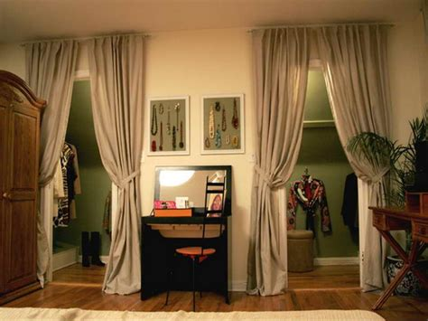 Closet Curtain Ideas by Planning Ideas Curtains As Closet Doors Remodling