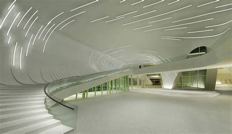 Home Library Lighting Design heydar aliyev cultural centre