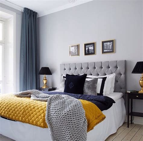 gold grey bedroom beautiful bed bedroom black blue cozy curtains dark