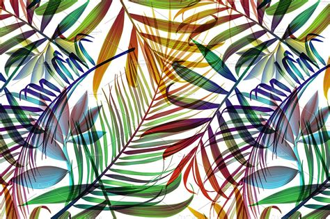 background pattern leaves tropical colorful palm jungle leaves patterns creative