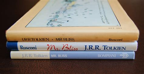 libro mr bliss tolkien collection le edizioni italiane di mr bliss e