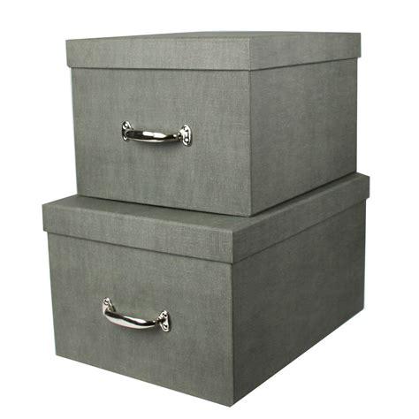 Boite Rangement grande bo 238 te de rangement en gris solide et 233 l 233 gante