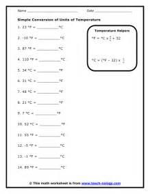 simple conversion of units of temperature