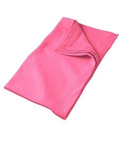 safety pink color gildan g129 dryblend fleece blanket