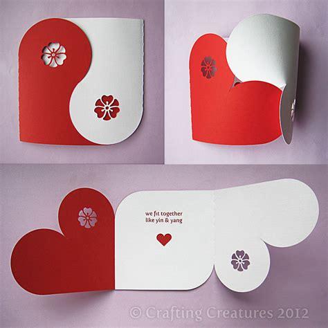 yin yang valentines card template yin yang card crafting creatures
