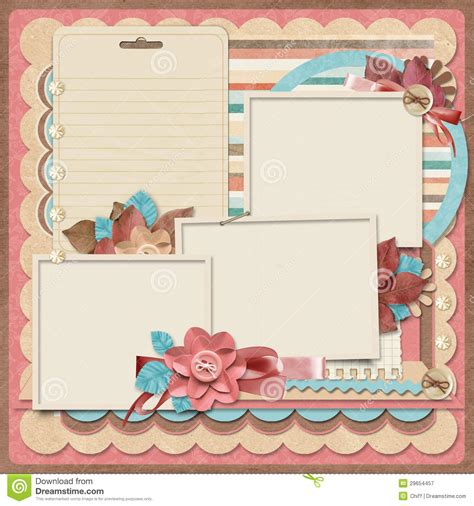 scrapbook templates retro family album 365 project scrapbooking templates
