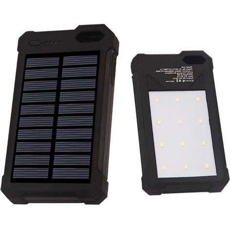 Power Bank Solar 12000mah sinofer power bank 2 usb 12000mah with solar panel black jakartanotebook