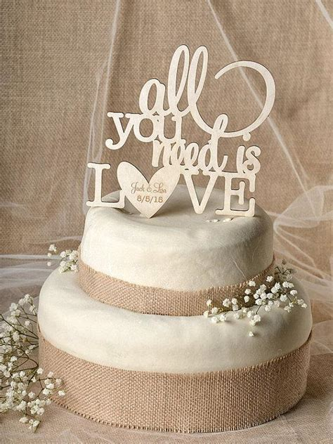 Wood Cake Topper rustic cake topper wood cake topper all you need is