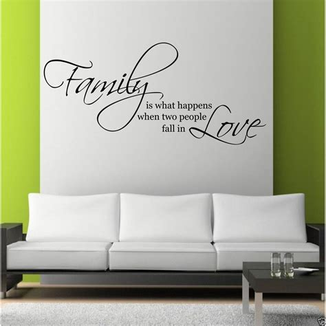 wall decal quotes for living room family love wall art sticker quote living room decal mural