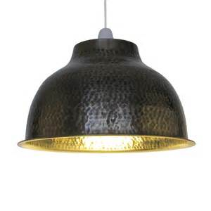 Hammered Metal Pendant Light Large Dome Hammered Metal Lighting Pendant Shade Antique