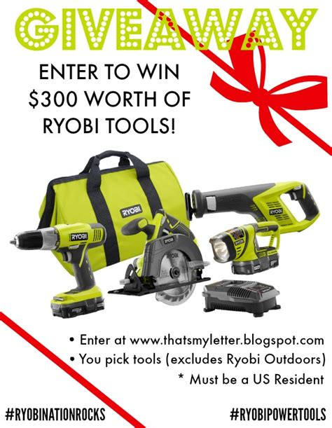 Power Tool Giveaway - that s my letter entryway bench free plans ryobi tools giveaway