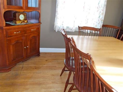 maple wood dining room set farmhouse dining chairs