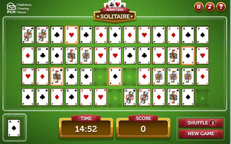 Pch Solitaire Games - addiction solitaire warning it s highly addictive pch blog