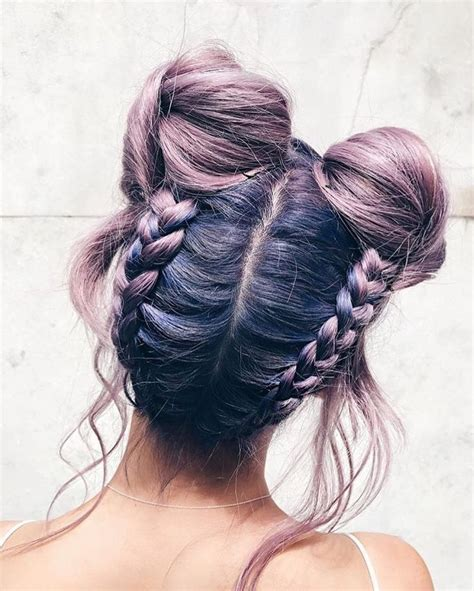 hairstyles like space buns 1915 best images about hair inspiration on pinterest