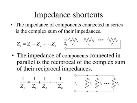 capacitor shortcut formulas what is the complex impedance of the inductor 28 images inductor capacitor impedance