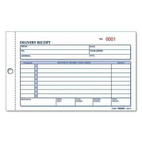 Rediform Delivery Receipt Book Ld Products Delivery Receipt Template