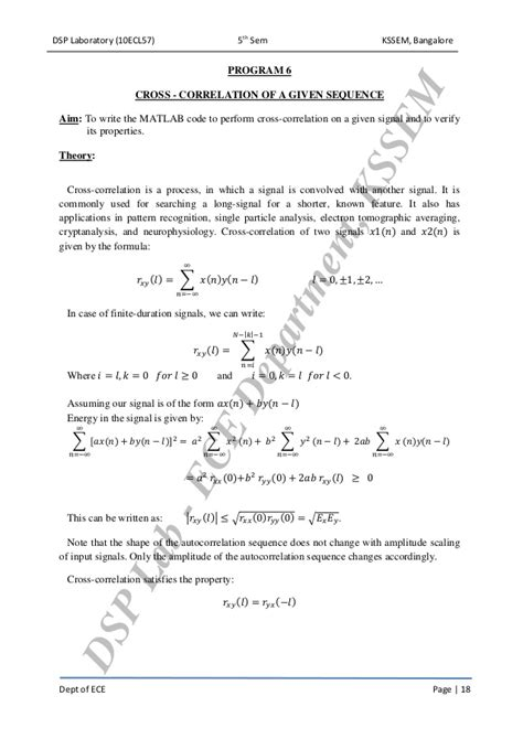 pattern recognition vtu dsp lab manual 10ecl57 vtu syllabus kssem