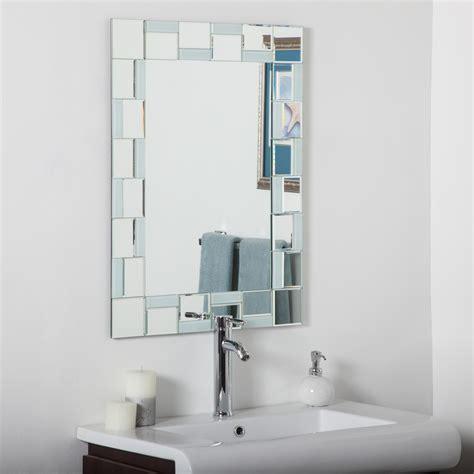decor wonderland quebec modern bathroom wall mirror