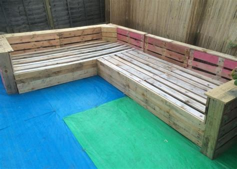 outdoor wooden corner seating patio garden corner seating with pallets pallet ideas