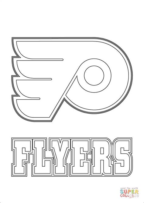 philadelphia flyers logo coloring page free printable