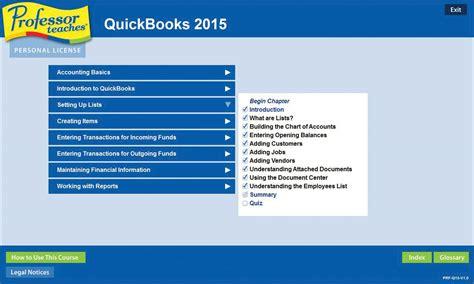 tutorial on quickbooks 2015 professor teaches quickbooks 2015 tutorial set download