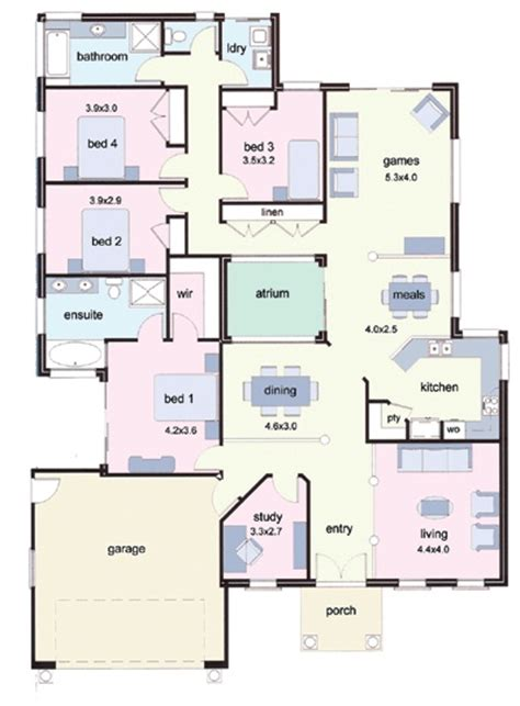 house plans with atrium in center atrium 2000 floor plan house plans pinterest
