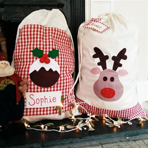 personalised christmas sack stocking extra large by the