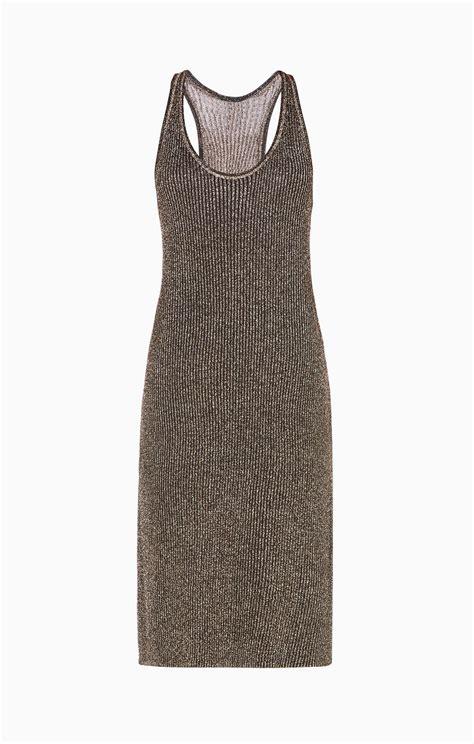 metallic knit dress margret metallic knit dress