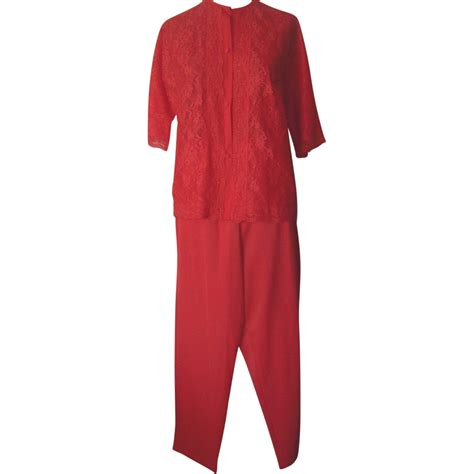Vanity Fair Pajamas by Vintage Vanity Fair Bright Orange Pajamas With Lace In Front From Beca On Ruby