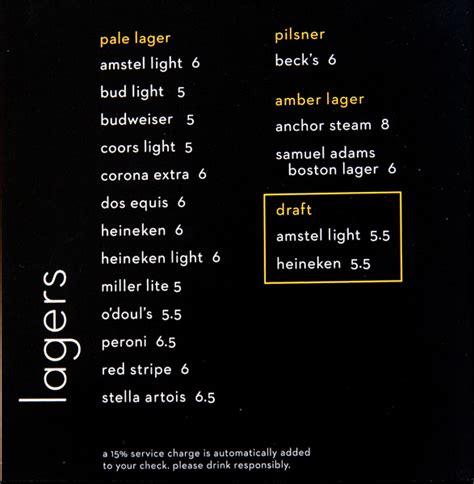 celebrity lounge price reflection menus