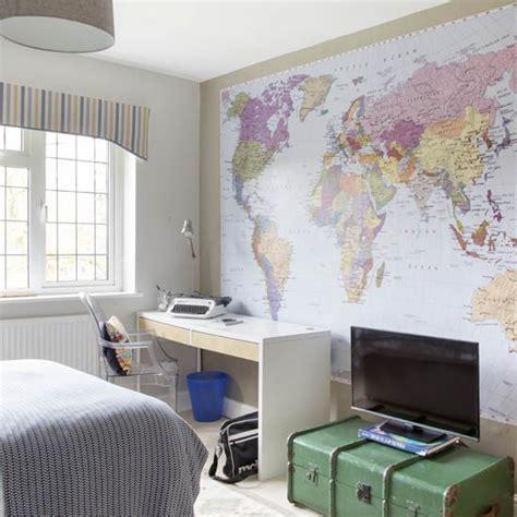 bedroom wallpaper ideas uk teen boy s room with map mural boys bedroom ideas and