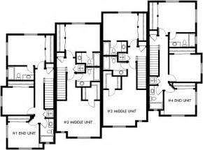 Townhouse Plans Townhouse Plans 4 Plex House Plans 3 Story Townhouse F 540