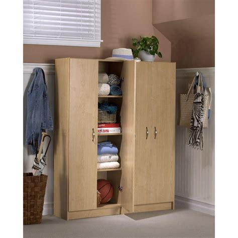 4 shelf storage cabinet akadahome 4 shelf laminate storage cabinet in birch