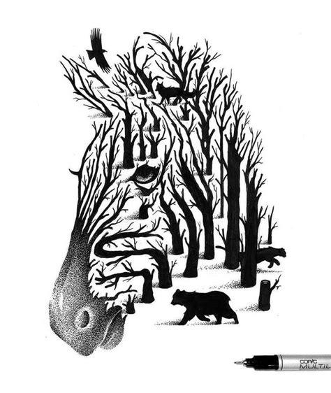 imagenes con doble sentido en blanco y negro 1000 id 233 es sur le th 232 me dessin noir et blanc sur pinterest